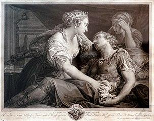La mort de Marc-Antoine de Pompeo Batoni