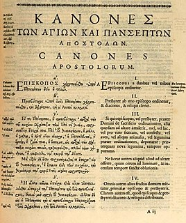 Canons of the Apostles