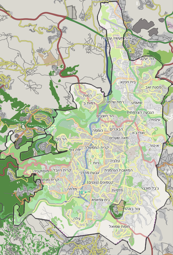 Jerusalem location map with titles2