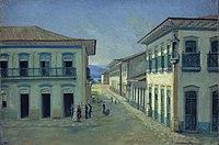 Jesus, Benedito Calixto de - Largo do Rosário em Santos, 1850.jpg
