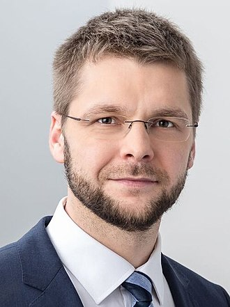 2019 European Parliament election in Estonia - Image: Jevgeni Ossinovski 2017 05 25 (cropped)