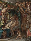 Joachim Wtewael - Mars and Venus Surprised by Vulcan, 1610.jpg