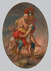Aeneas Rescues Anchises from Burning Troy