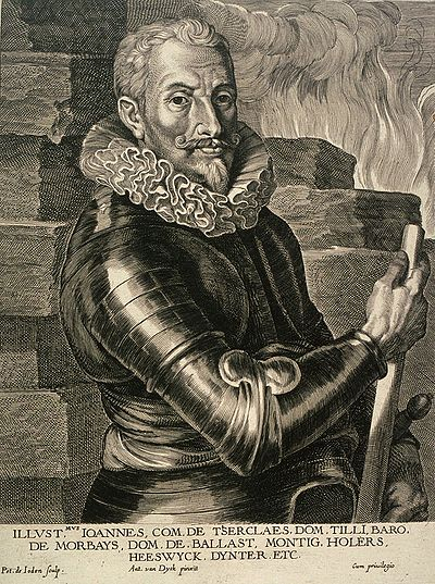 Johann Tserclaes, Count of Tilly, commander of the Imperial, Spanish, and Bavarian armies Johann Tserclaes Tilly.jpg
