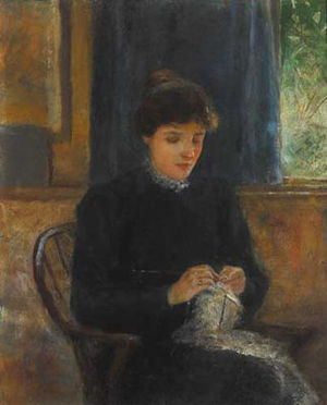 Lily Yeats - Lily Yeats at Bedford Park by John Butler Yeats.