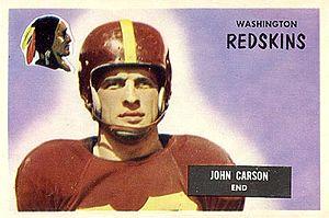 Johnny Carson (American football) - Carson on a 1955 Bowman football card