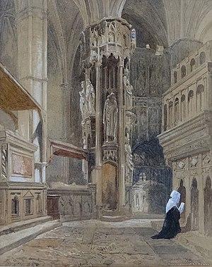 John Skinner Prout - Image: John Skinner Prout Porche de L'eglese de Chartres