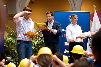 Jonathan Scott (TV personality) - Jonathan and Drew Scott reading to children at the Let's Read Let's Move event on August 6, 2013