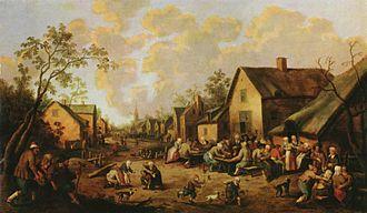 Joost Cornelisz Droochsloot - Village street, 1654
