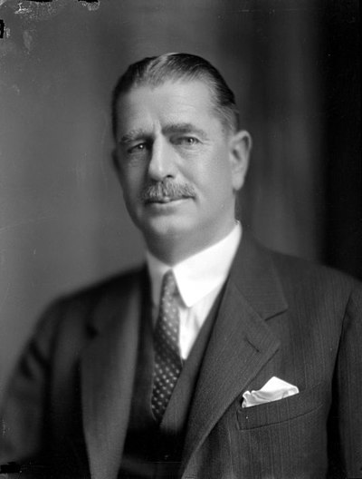 Gordon Coates became Minister of Railways in 1923. His tenure was to have a profound effect on the department. Joseph Gordon Coates, 1931.jpg