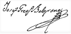 Joseph Belgrano - Image: Joseph Gregorio Belgrano firma