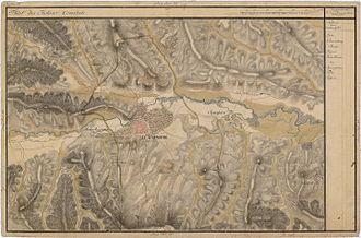 History of Cluj-Napoca - Cluj-Napoca in the Grand Duchy of Transylvania maps, 1769–1773. Josephinische Landesaufnahme