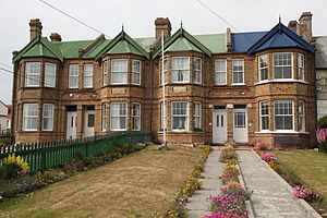 Listed buildings in the Falkland Islands - Image: Jubilee Villas in Stanley (5612288266)