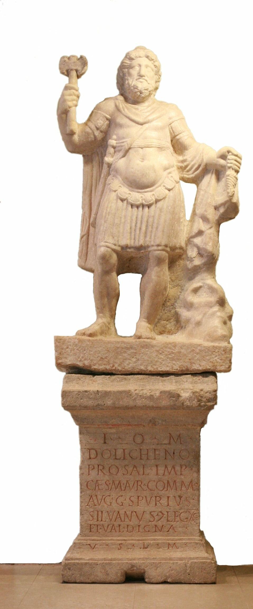 Jupiter dolichenus 3rd century Carnuntum