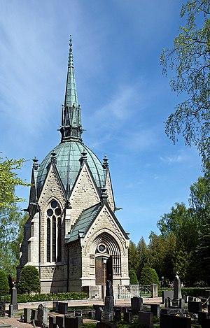 Juselius mausoleum in Pori, Finland.