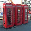 K6 Telephone Kiosks at Holy Trinity Church, Trinity Trees, Eastbourne (NHLE Code 1043620) (October 2012).jpg