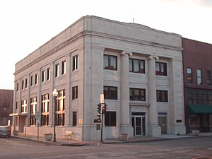 Sedalia, Missouri - Former Third National Bank building located in downtown Sedalia