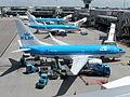 """KLM Boeing 737-700, PH-BGP, """"Regenwulp"""" at Schiphol Airport.jpg"""