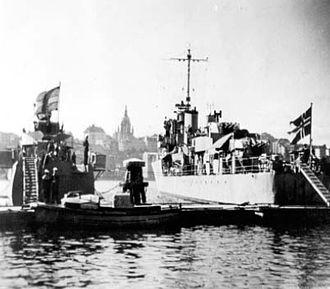 HMS Badsworth (L03) - Arendal at Kungsholmen, Stockholm.