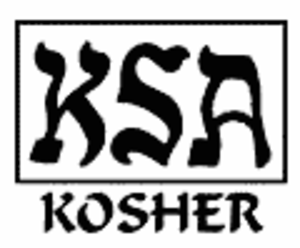 Kosher Supervision of America - Foods certified by KSA bear this emblem.