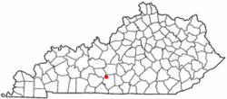 Location of Park City, Kentucky
