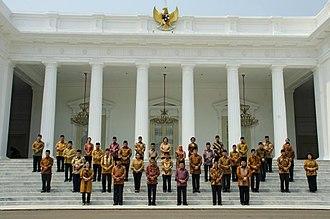 Joko Widodo - Widodo's initial cabinet in 2014