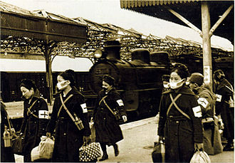Central China Railway - Central China Railway locomotive C51 116 at Suzhou Station, 30 January 1939.