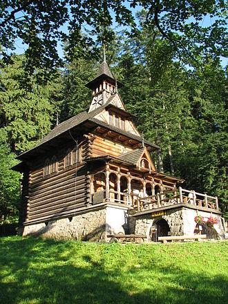 Zakopane Style - Jaszczurówka Chapel in Zakopane.