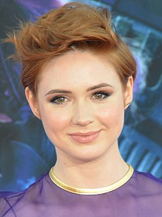 Karen Gillan på premiären av Guardians of the Galaxy (2014).