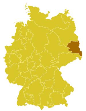 Roman Catholic Diocese of Görlitz - Image: Karte Bistum Görlitz