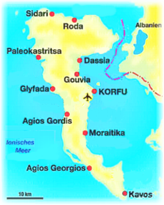 ostrvo krf mapa Krf — Vikipedija, slobodna enciklopedija ostrvo krf mapa