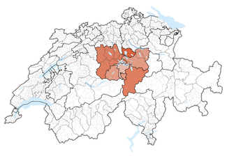 Karte Zentralschweiz 2016