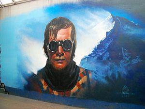 Jerzy Kukuczka - Kukuczka on graffiti in Katowice
