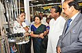 Kavuru Sambasiva Rao going round after inaugurating the Indian 6th Fashion Jewellery & Accessories Show, in Greater Noida, Uttar Pradesh. The Secretary, Ministry of Textiles, Smt. Zohra Chatterji is also seen.jpg