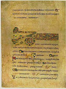 Le folio 19 contient le début des Breves causae de l'Évangile selon Luc.