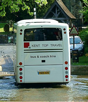 Plaxton Profile - Image: Kent Top Travel coach (YN05 XZS) 2005 Volvo B7R Plaxton Profile, Eynsford, 10 May 2011