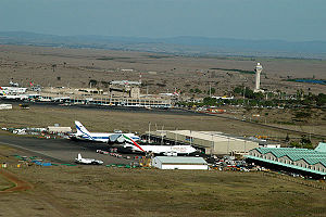 Aerial photograph of the Jomo Kenyatta Interna...