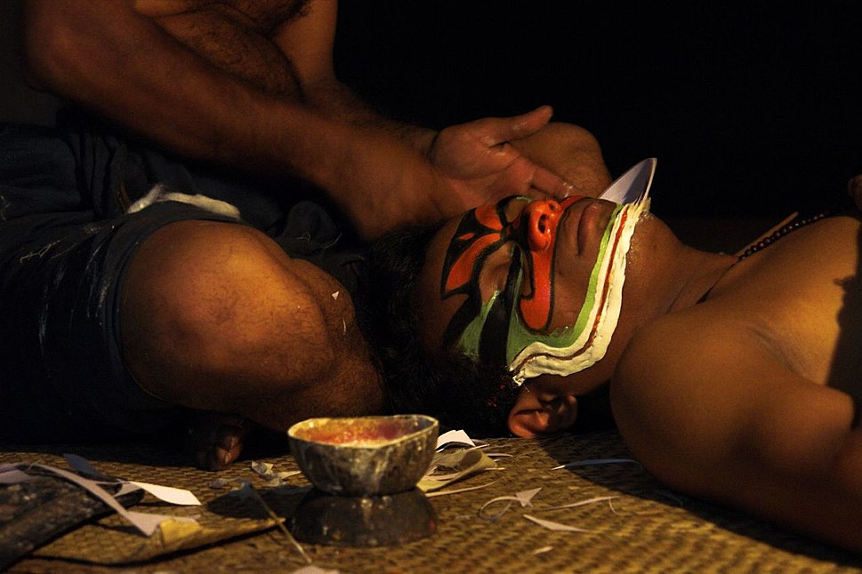 Kerala kathakali makeup