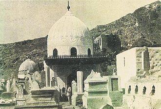 Khadija bint Khuwaylid - Mausoleum Khadija, Jannatul Mualla cemetery, in Mecca, before its destruction by Saud