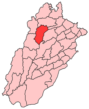 Khushab District highlighted within Punjab Province