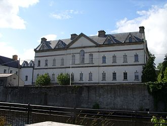 Boyle, County Roscommon - King House - viewing from Pleasure Grounds (Town Park), Boyle