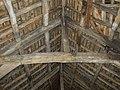 King post roof truss, 15C barn, Kirklees Home Farm, Clifton - geograph.org.uk - 252056.jpg