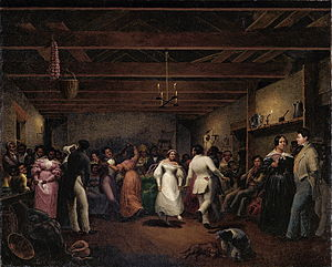 West Virginia - A celebration at a slave wedding in Virginia, 1838