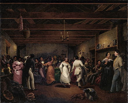 A celebration at a slave wedding in Virginia, 1838 KitchenBall.jpg