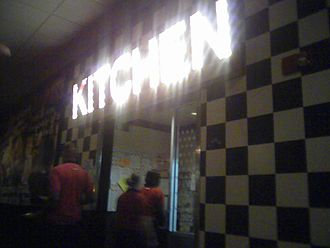 T.G.I. Friday's - Kitchen sign in a T.G.I. Fridays Restaurant