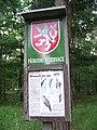 Klánovický les, tabule přírodní rezervace.jpg