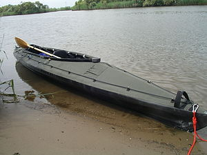 Folding kayak - Klepper Aerius Quattro XT in military colors