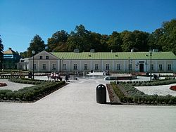Small palace and garden