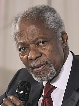 Annan during the Munich Security Conference 2018 Kofi Annan (2018).jpg