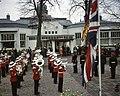Koninginnen, prinsen, muziekkorpsen, vlaggen, Elisabeth, Philip, Bestanddeelnr 254-7277.jpg